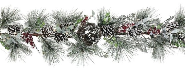 6-frosted-pine-cone-berry-christmas-garland-with-birds-nest